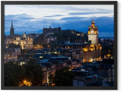 Edinburgh Cityscape Framed Poster