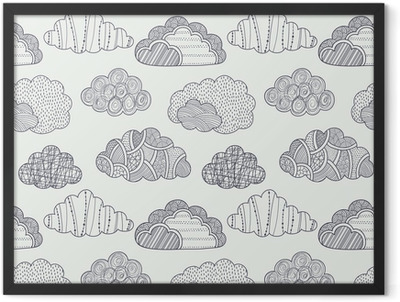 Clouds seamless pattern Framed Poster