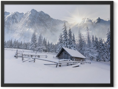 Old farm in the mountains. Framed Poster
