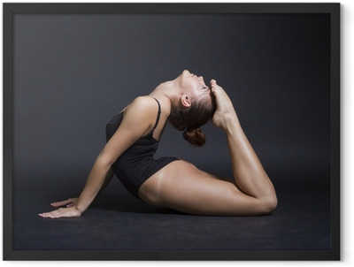 young beautiful gymnast woman Framed Poster