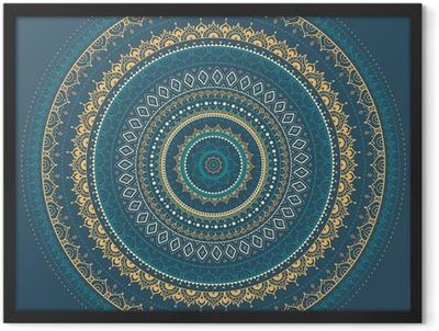 Mandala. Indian decorative pattern. Framed Poster