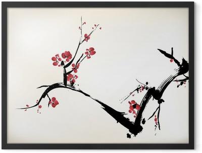 blossom painting Framed Poster
