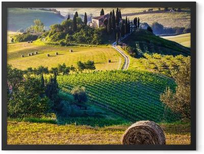Tuscany, Italian Landscape Framed Poster