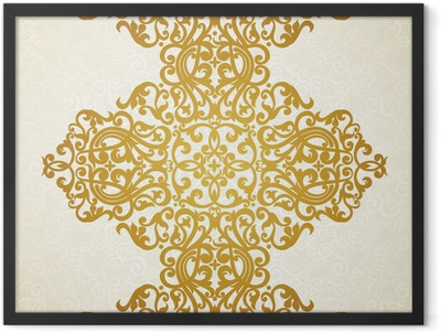Vector seamless border in Victorian style. Element for design. Framed Poster