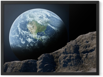 Earth seen from the moon. Framed Poster