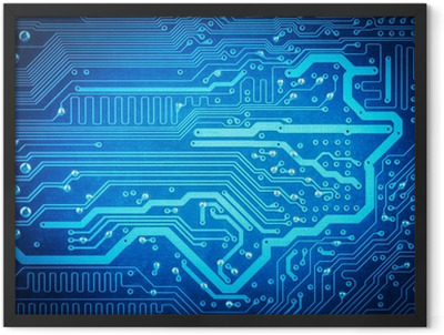 circuit board background Framed Poster