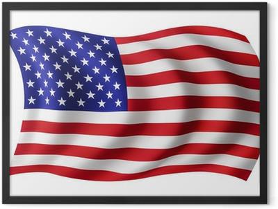 USA flag United States - American flag Framed Poster
