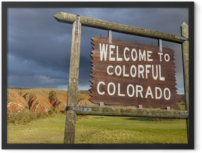 welcome to Colorado sign Framed Poster