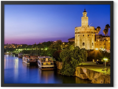 View of Golden Tower (Torre del Oro) of Seville, Andalusia,Spain Framed Poster