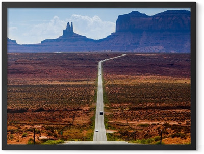 Road to the Monument Valley Framed Poster