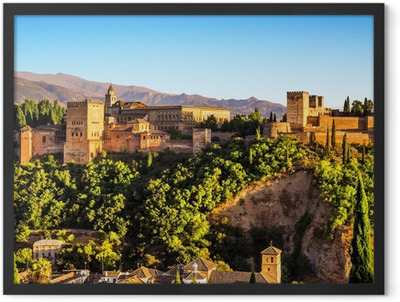 Ancient arabic fortress of Alhambra, Granada, Spain. Framed Poster
