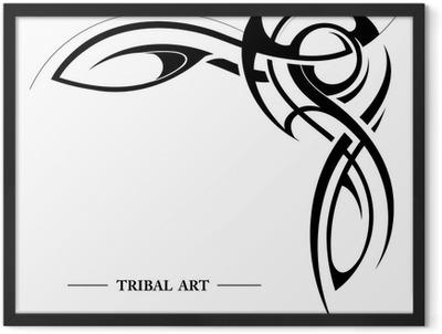 Tribal element Framed Poster