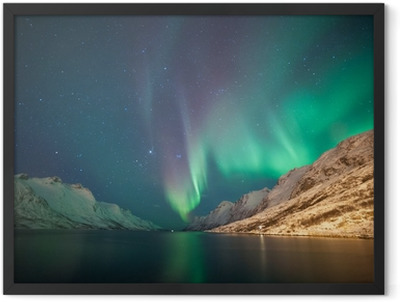 Northern lights, Ersfjordbotn, Tromso, Norway Framed Poster