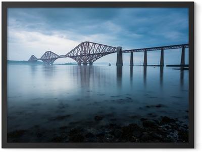 Forth bridges in Edinburgh, Scotland Framed Poster