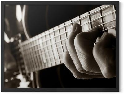 playing jazz guitar Framed Poster