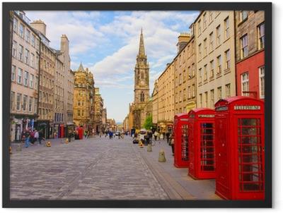 street view of Edinburgh, Scotland, UK Framed Poster