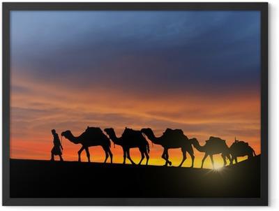 Desert caravan Framed Poster