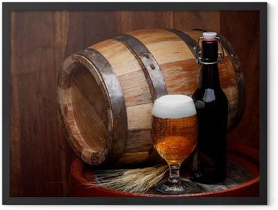 Keg of beer Framed Poster