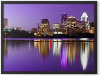 City Skyline - Austin, TX Framed Poster