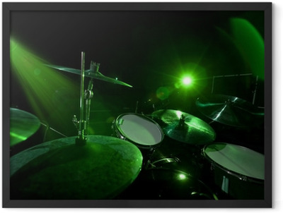 Drums in the green light Framed Poster