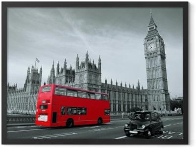 Bus in London Framed Poster