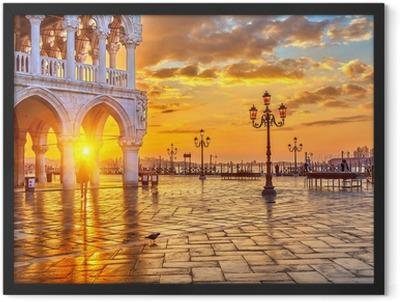 Sunrise in Venice Framed Poster