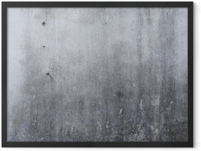 cement wall texture, rough concrete background Framed Poster