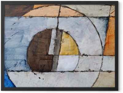 an abstract painting Framed Poster