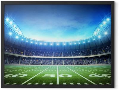 light of american stadium Framed Poster