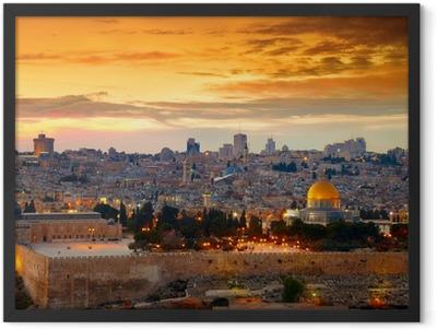 View to Jerusalem old city. Israel Framed Poster