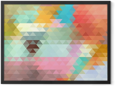 bright background of the triangles Framed Poster