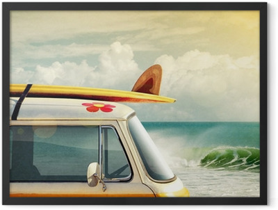 Surfing Way of Life Framed Poster