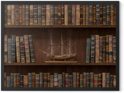 Books seamless texture. tiled with other textures in my gallery Framed Poster