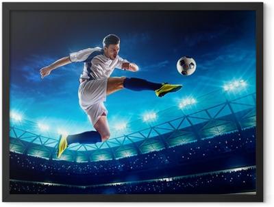 Soccer player in action Framed Poster