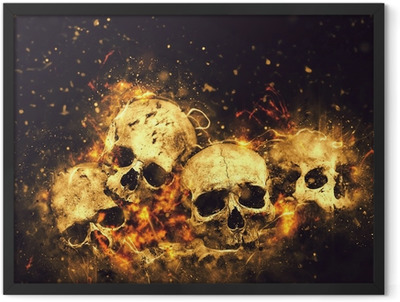 Skulls and Bones Framed Poster