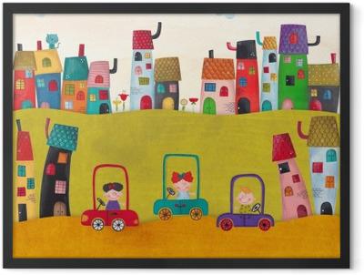 Illustration for children Framed Poster