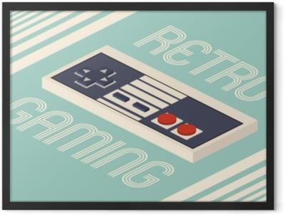 Retro gaming vector illustration Framed Poster