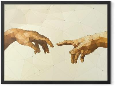 Abstract God's hand vector illustration Framed Poster
