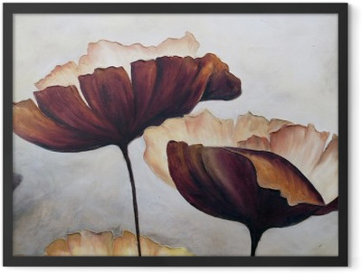 Poppy abstract painting Framed Poster