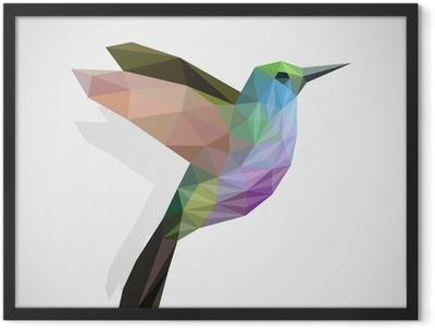 bird / colourful hummingbird Framed Poster