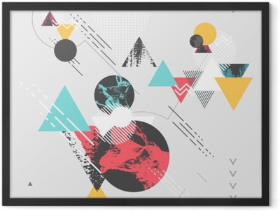 Abstract modern geometric background Framed Poster