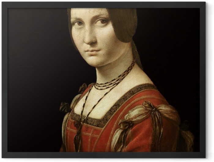 Plakat w ramie Leonardo da Vinci - La Belle Ferronière - Reprodukcje