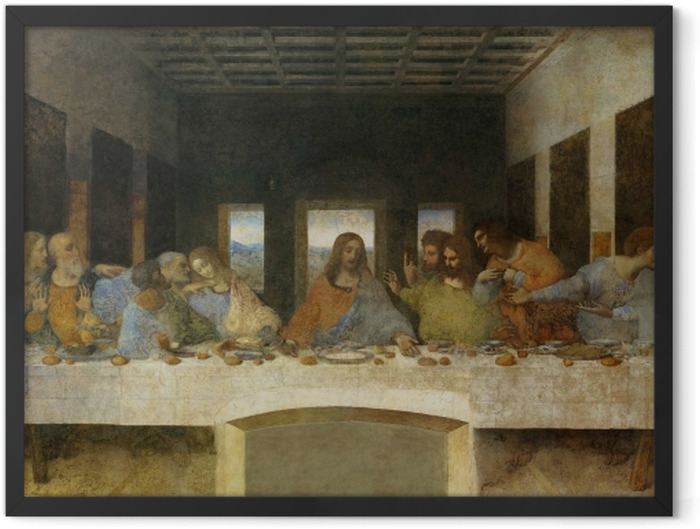 Plakat w ramie Leonardo da Vinci - Ostatnia Wieczerza - Reprodukcje