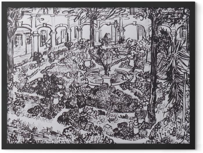 Poster en cadre Vincent van Gogh - La cour de l'hôpital - Reproductions