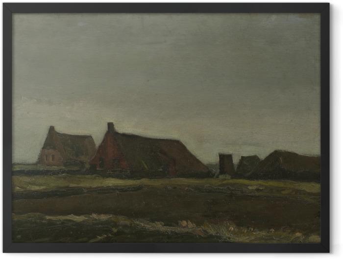 Plakat w ramie Vincent van Gogh - Chaty - Reproductions