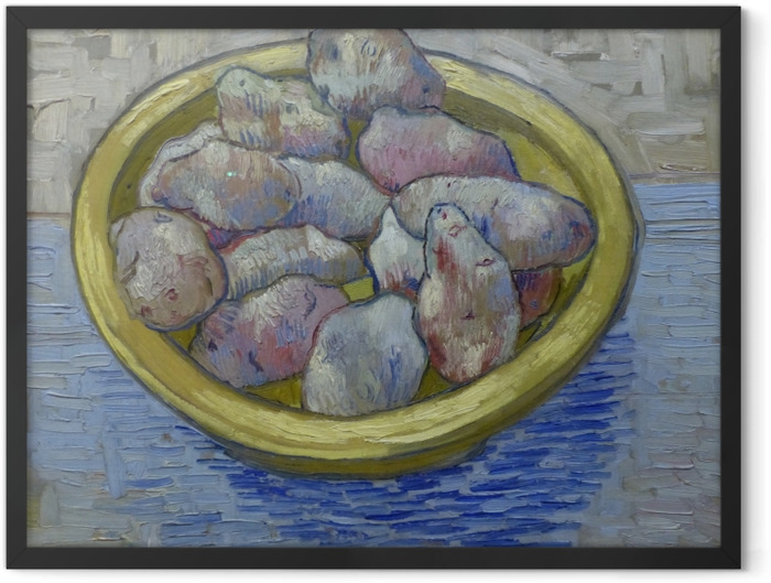 Plakat w ramie Vincent van Gogh - Ziemniaki w żółtym naczyniu - Reproductions