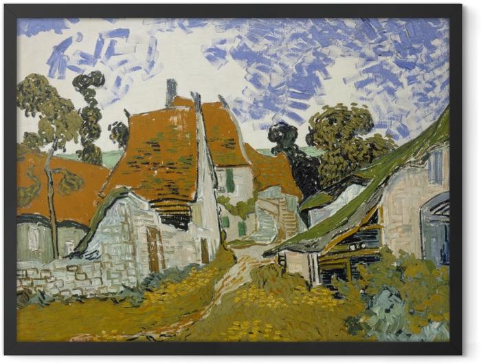 Poster en cadre Vincent van Gogh - Rue d'Auvers - Reproductions