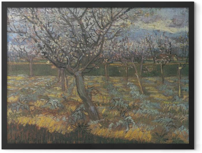 Poster en cadre Vincent van Gogh - Verger avec des arbres d'abricot en fleurs - Reproductions
