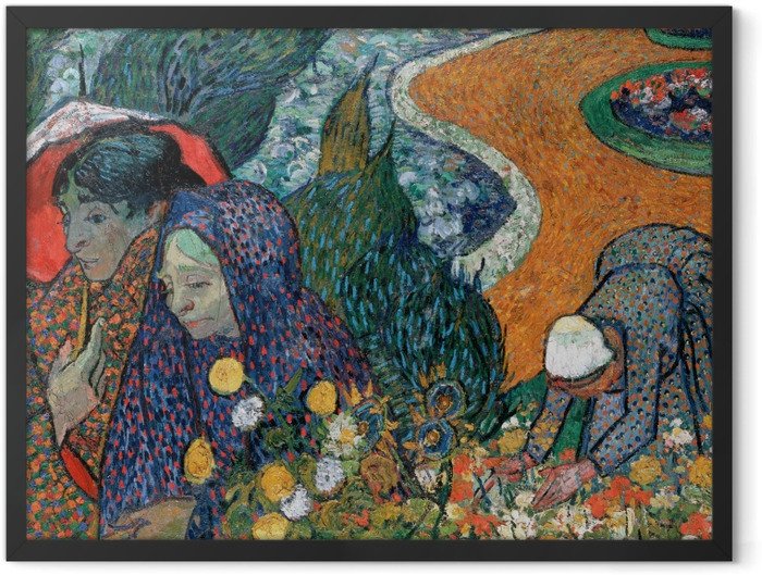 Plakat w ramie Vincent van Gogh - Pamiątka z ogrodu w Etten - Reproductions