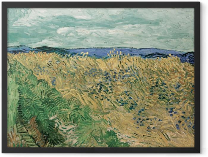 Poster en cadre Vincent van Gogh - Champ de blé aux bleuets - Reproductions